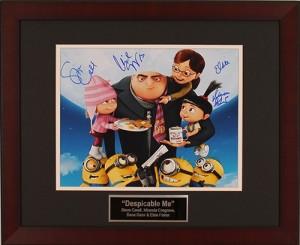 Despicable Me Autographed Charity Auction Item
