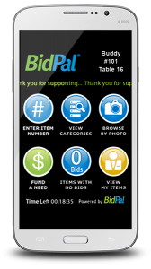 Silent Auction Mobile Bidding